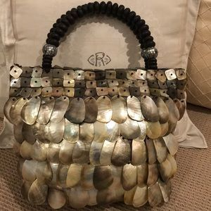  SUMMER FUN SHELL AND ABALONE PURSE for sale